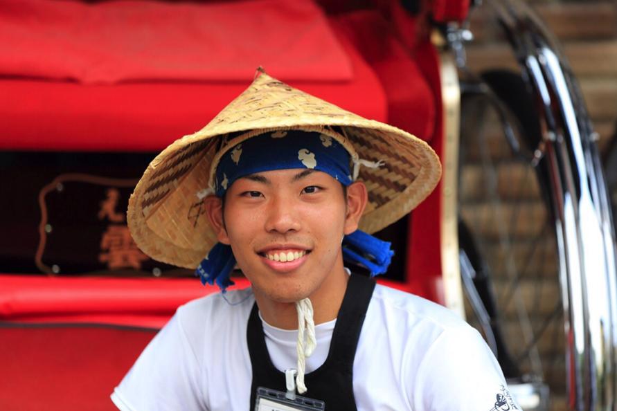 京都嵐山で人力車のアルバイトをする大学生