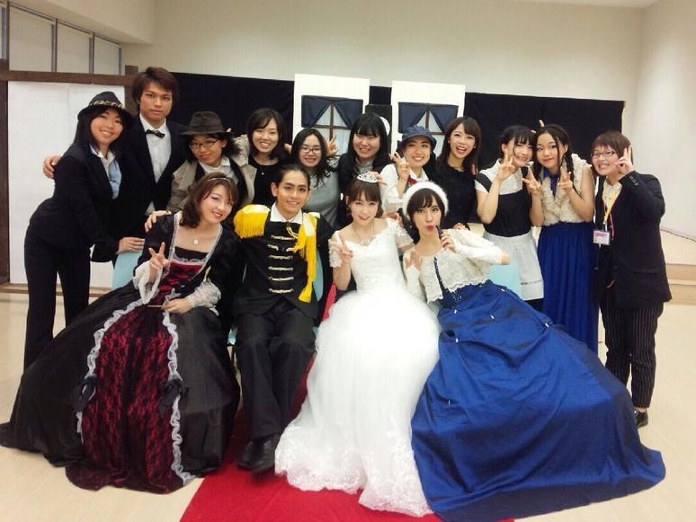 立命館ミュージカルサークル公演後の記念撮影