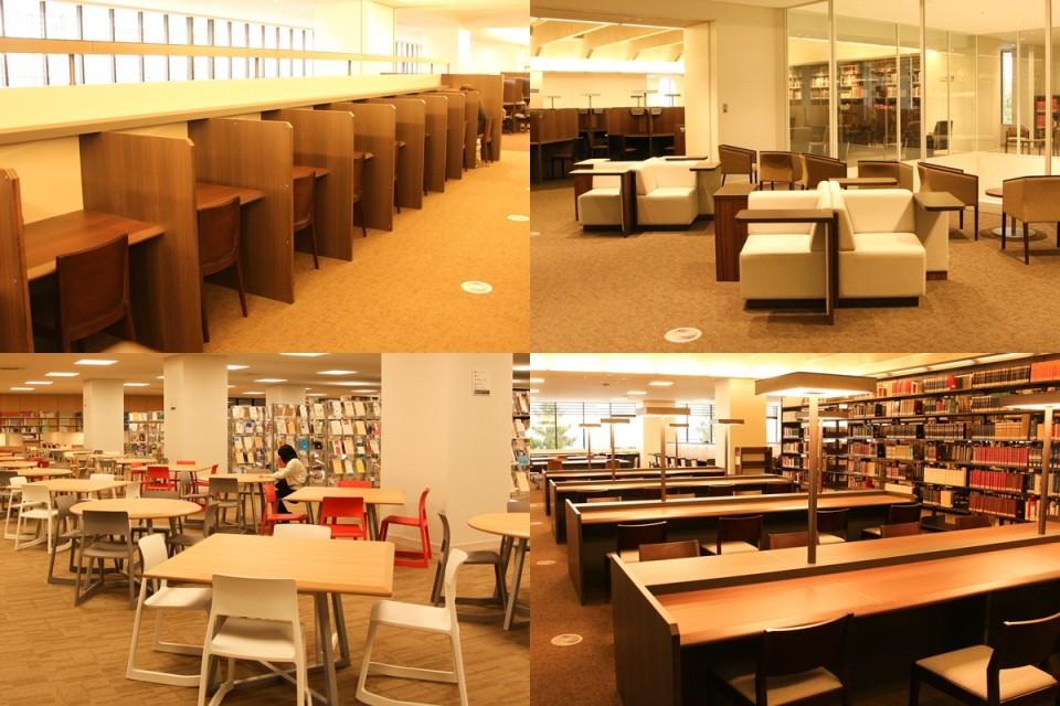 立命館,図書館,平井嘉一郎,閲覧席,椅子,勉強,自習,