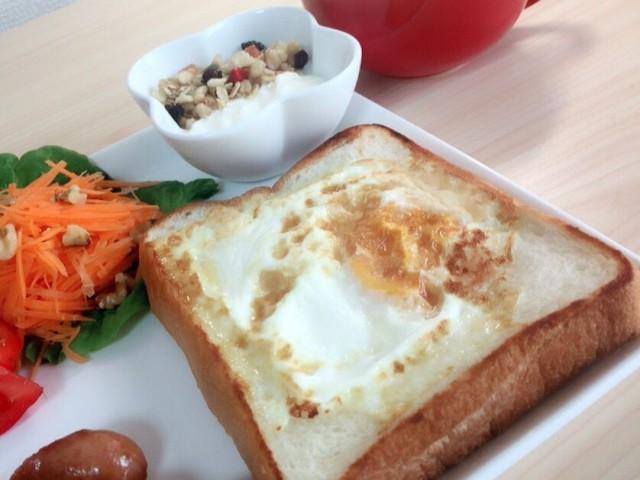 1人暮らし,女子大生,朝食,トースト,レシピ