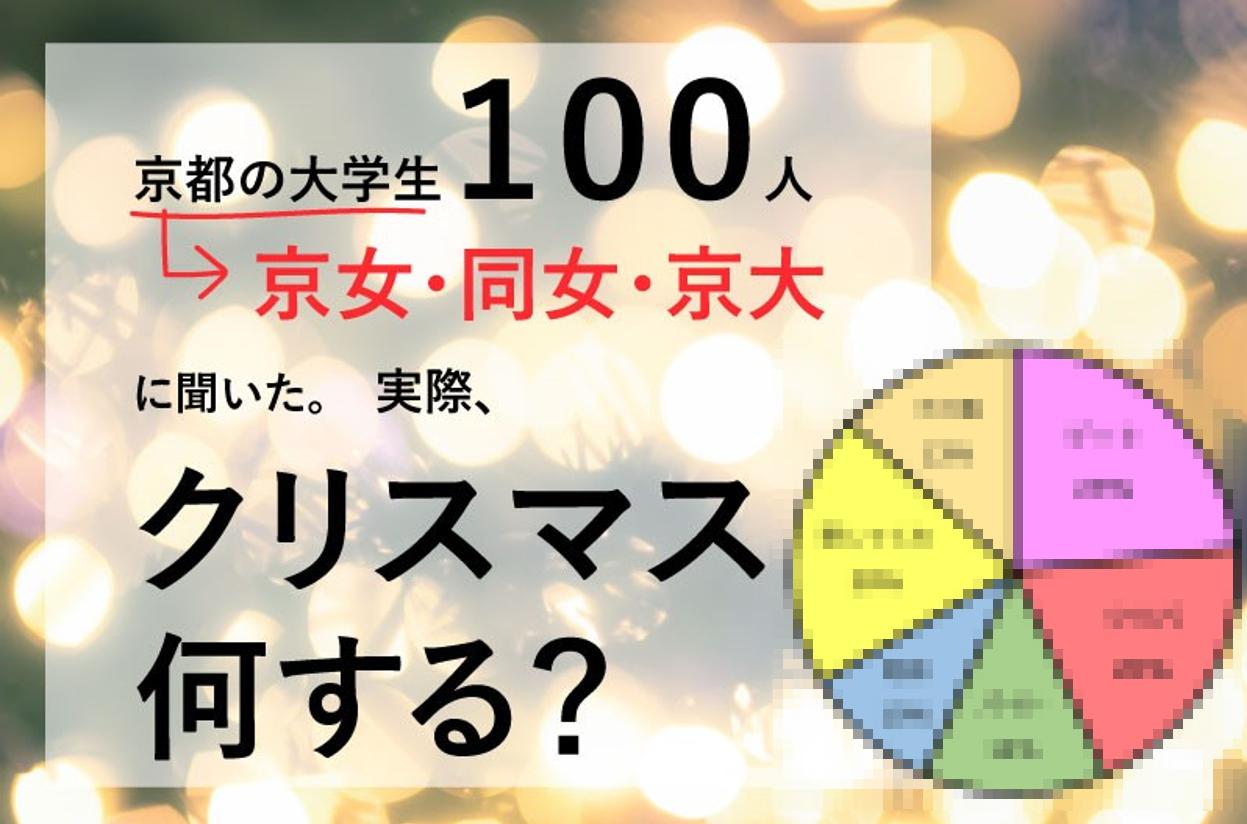 【京都】実際、大学生ってクリスマスどう過ごしてる?京大・京女・同女で聞いてきた