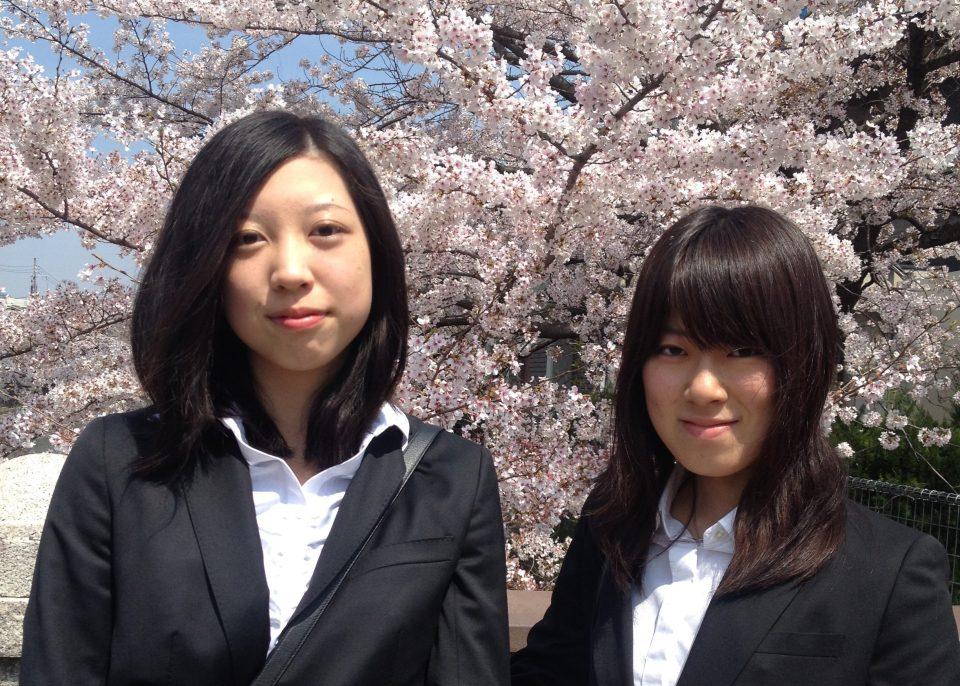 筆者が入学式で撮った写真