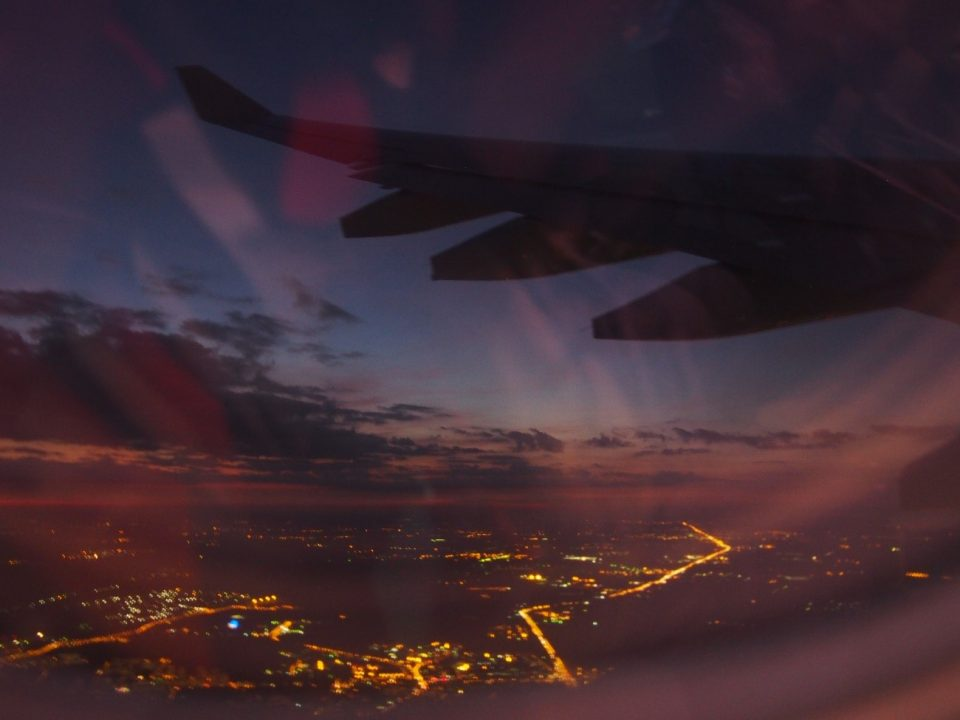 筆者がロシア留学した際の飛行機からの景色