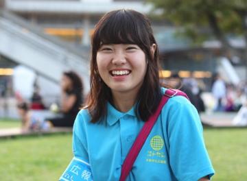 京都学生広報部で活動中の筆者