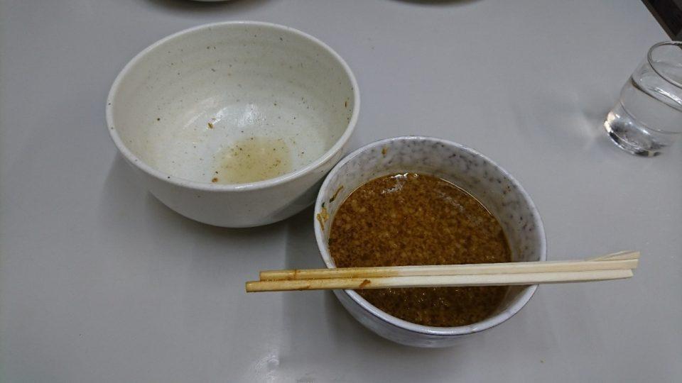 完食されたつけ麺
