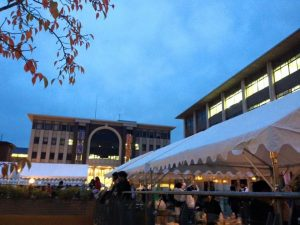立命館大学国際関係学部、学部棟の外観