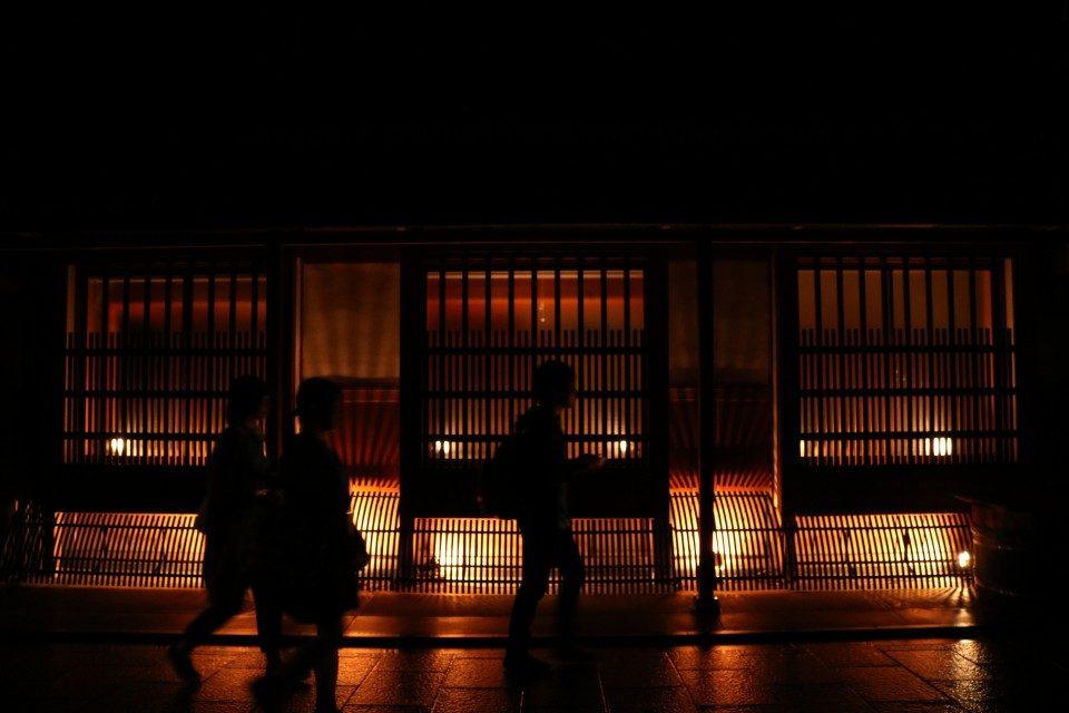 京都の上七軒で行われた都ライト
