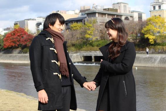 【微笑ましすぎて閲覧注意】京都の学生カップルのペアルック事情