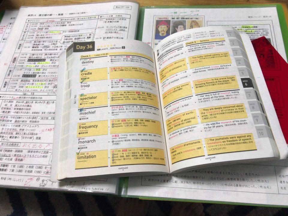 筆者が受験で使用していた参考書